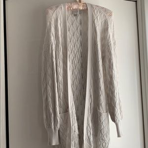 A New Day ivory long cardigan